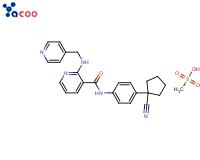 N-[4-(1-氰基环戊基)苯基]-2-[(4-吡啶甲基)氨基]-3-吡啶甲酰胺甲磺酸盐