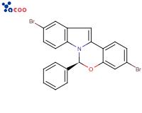 (6S)-3,10-二溴-6-苯基-6H-吲哚并[1,2-c][1,3]苯并恶嗪